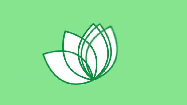 Lotos vonal ikon az Alfa-csatornán