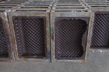 metal mold of rubber latex pillow at factory