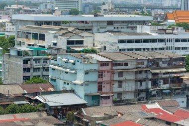 landscape building and street of bangkok city