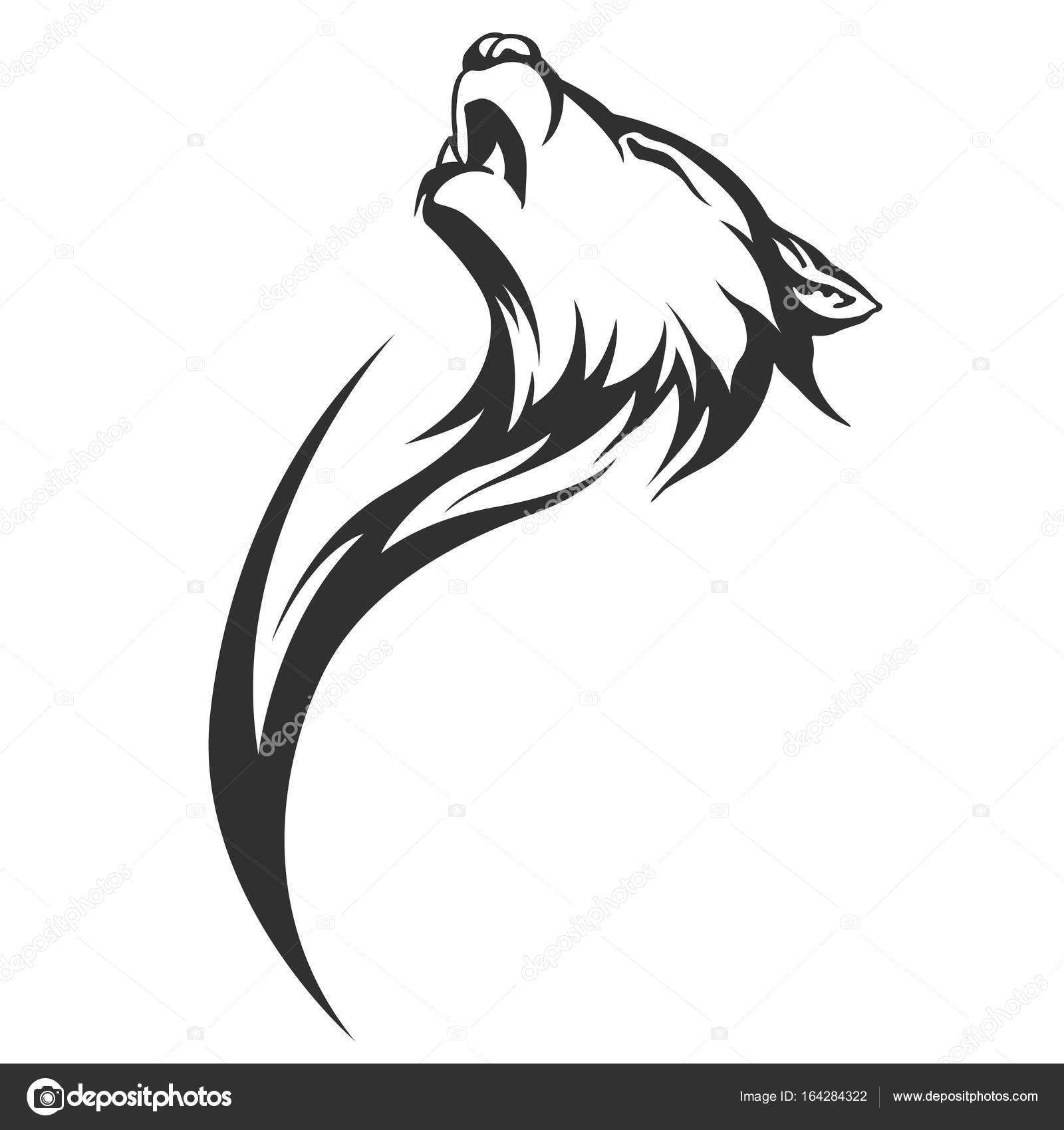 Tribal tattoo wolves | Tribal tattoo wolf designs — Stock