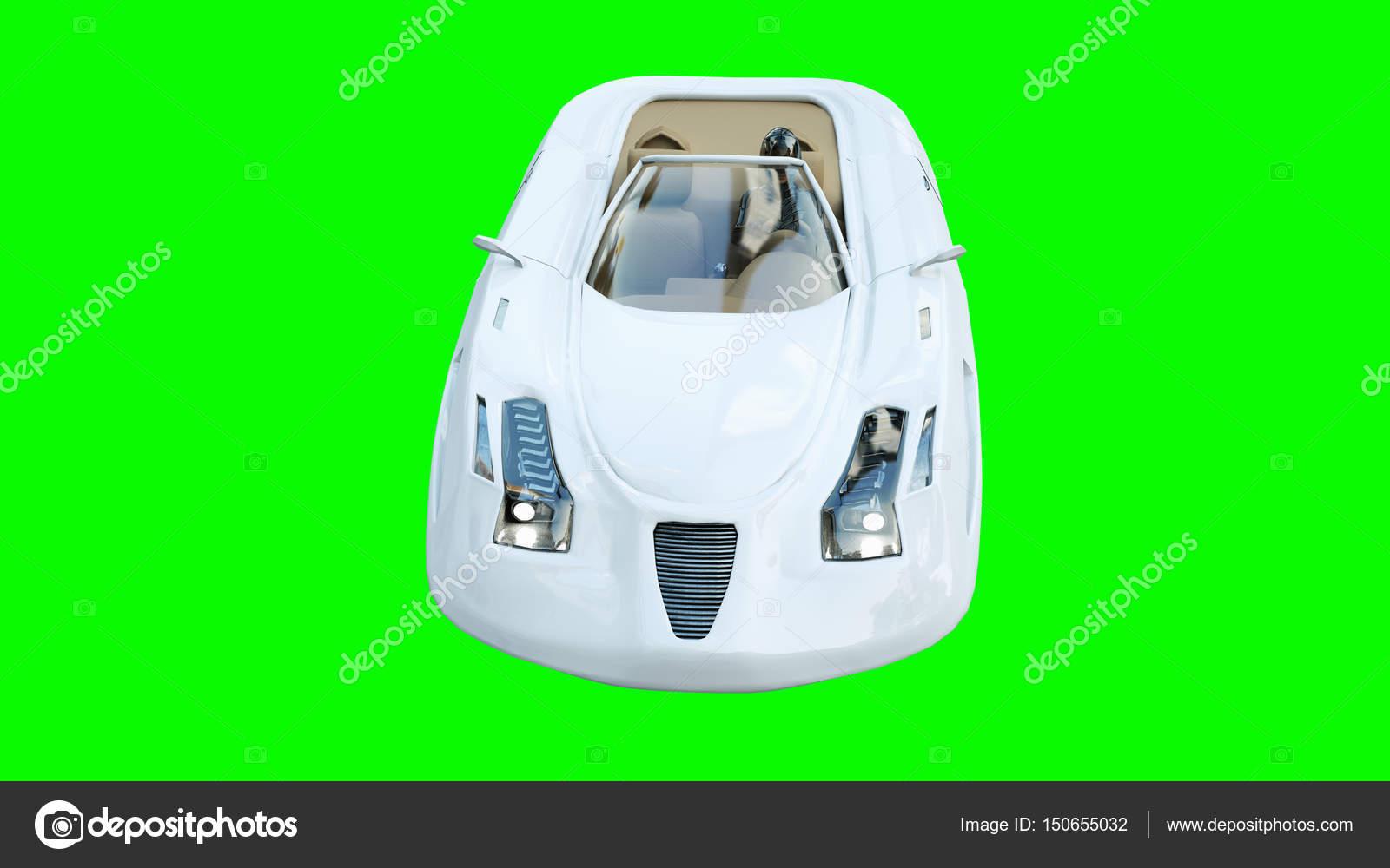L'avenirIsoler Avec FemmeTransport Futuriste Voiture Volante De f6bgY7y