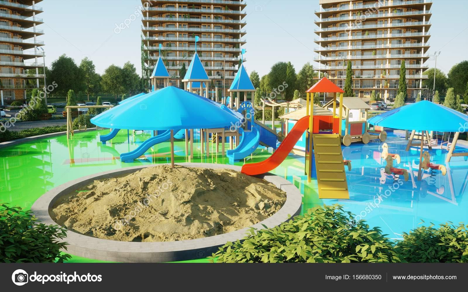 3d Architekturvisualisierung stadt 3d architekturvisualisierung spielplatz 3d rendering