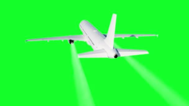 Osobní létající letadlo animace. Kondenzační stopa letadla. Fabion 4k záběry.