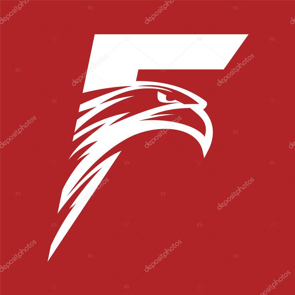 Vettore Eagle Head Logo Png Lettera F Eagle Head Logo