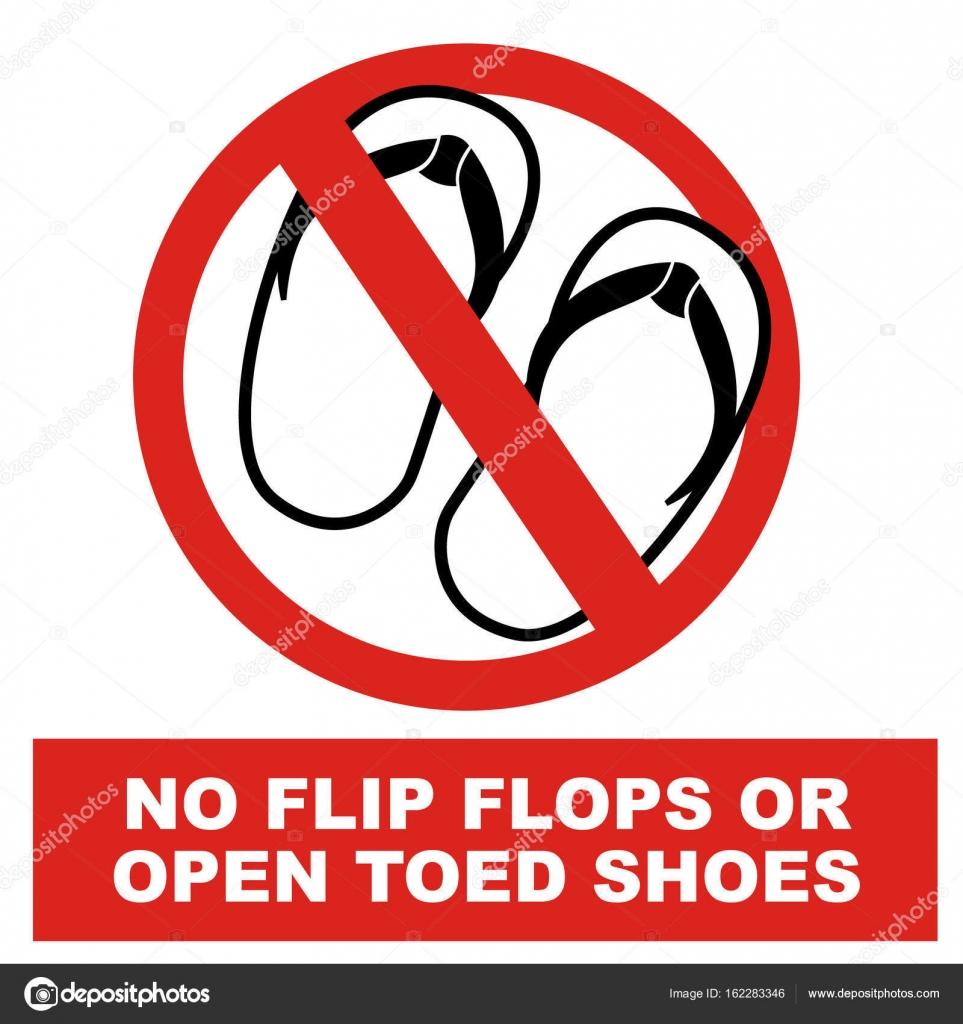 e9f59aac9d1895 No Sandals Signage Vector — Stock Vector © vable  162283346