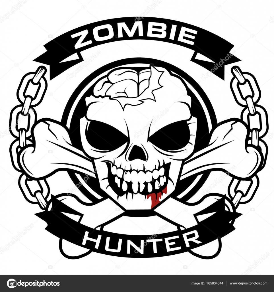 Zombie Hunter Symbol Stock Vector Vable 165834044