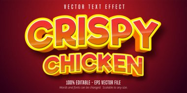 Crispy chicken text, comic style text effect