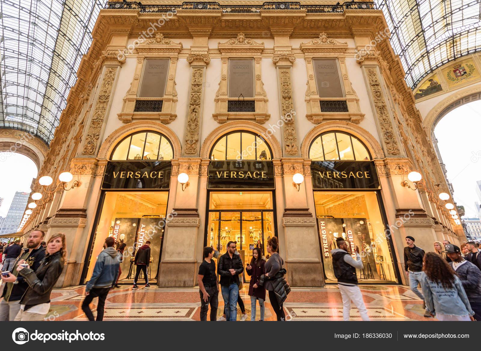 8bfba9ab9a Milan Italy October 2017 Versace Boutique Galleria Vittorio Emanuele ...