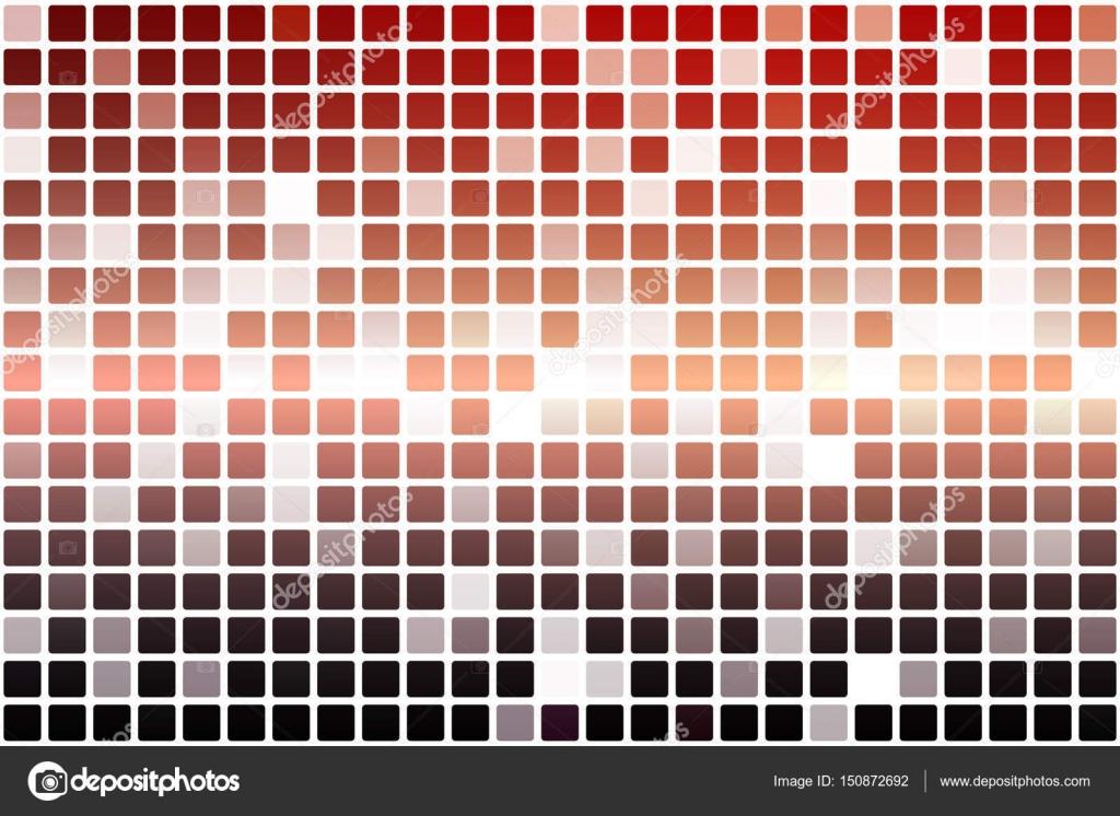 Mosaico rosso arancio opacità viola occasionale sopra bianco
