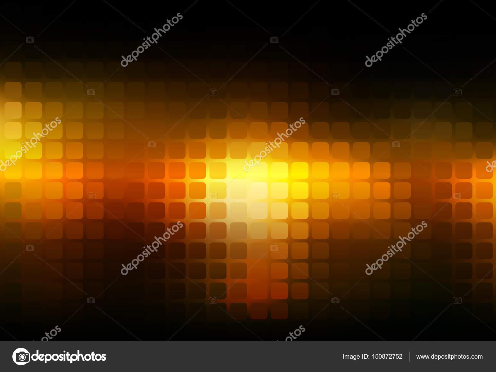 Estratto giallo arancione nero arrotondato fondo del mosaico