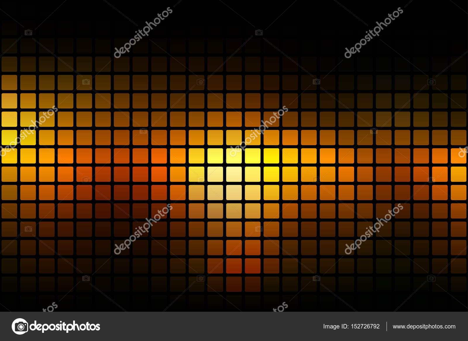 Estratto giallo arancione nero arrotondato sfondo mosaico sopra