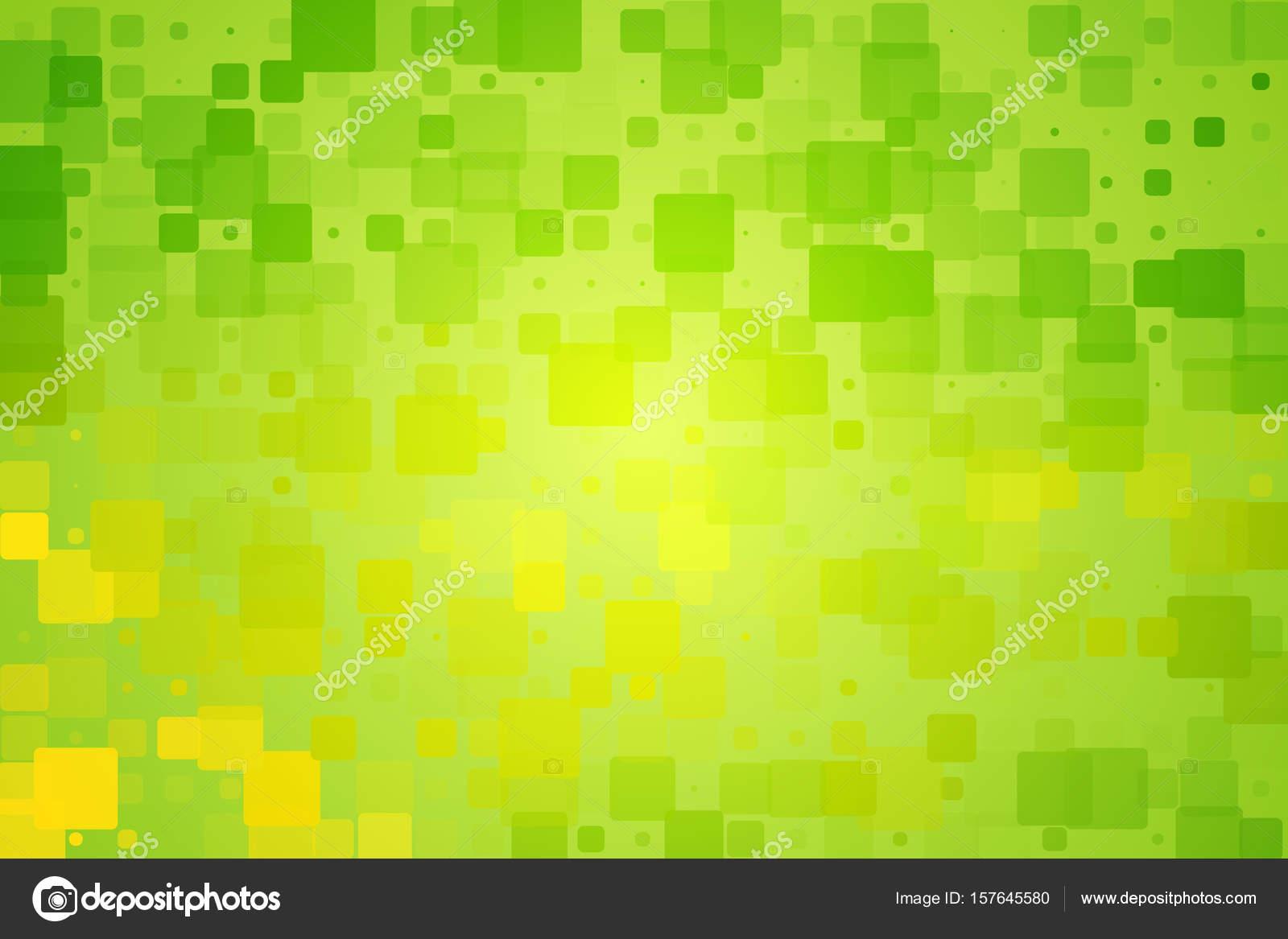 Gelbe Gruntonen Leuchten Verschiedene Fliesen Hintergrund