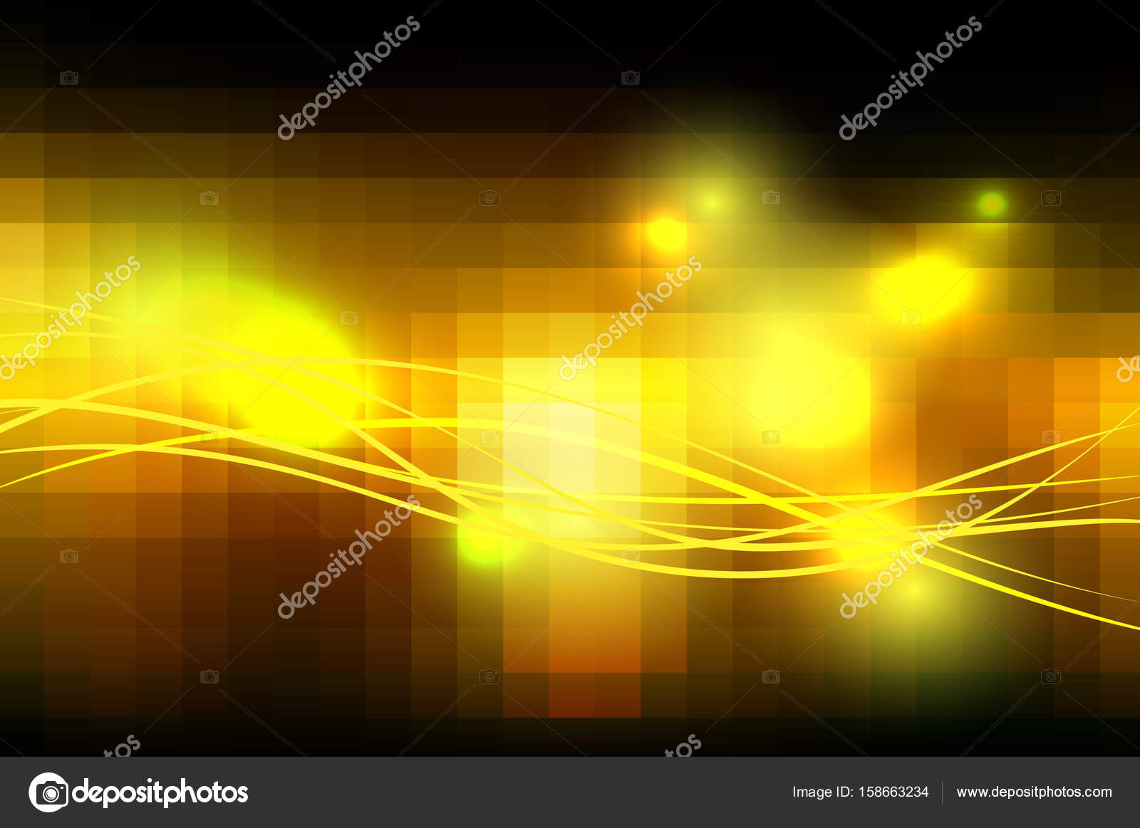 Quadrato giallo arancia nero piastrelle mosaico sfondo con luci un