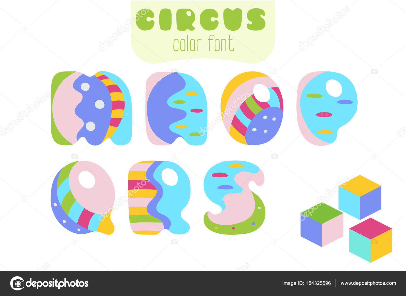 Cartoon style letters m n o p q r s and toy blocks stock funny cartoon style colorful uppercase vector alphabet font set with letters m n o p q r s and toy blocks vector by tasipas altavistaventures Image collections