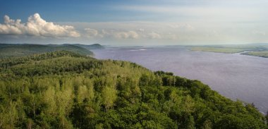 Panorama Amur River.