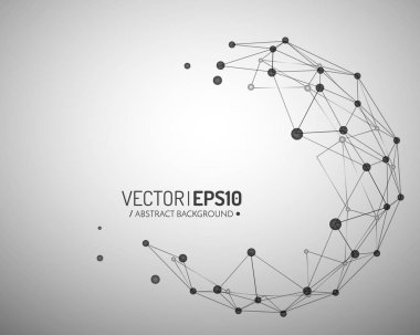 Geometric vector background for business or science presentation. Connection concept
