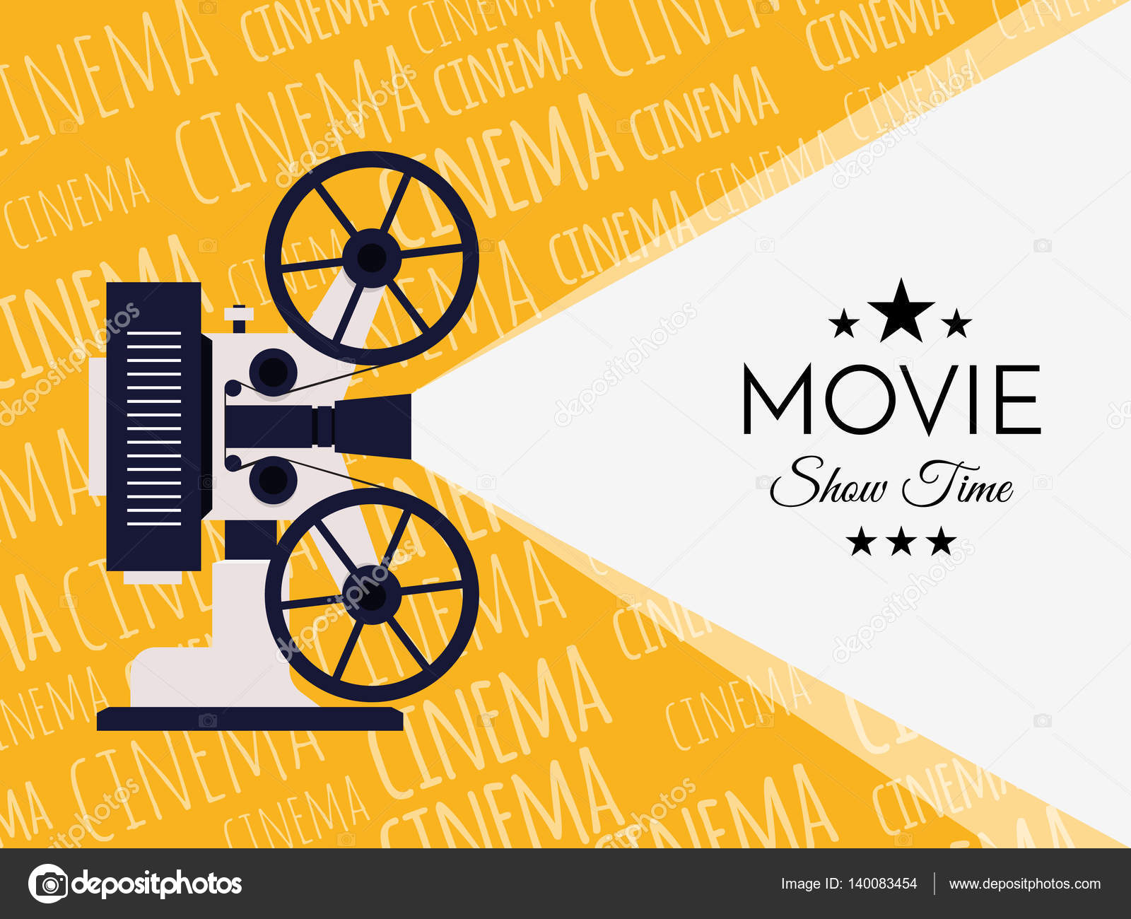 Cinema Background Or Banner Movie Flyer Ticket Template For Your Design Vector By Ket4up
