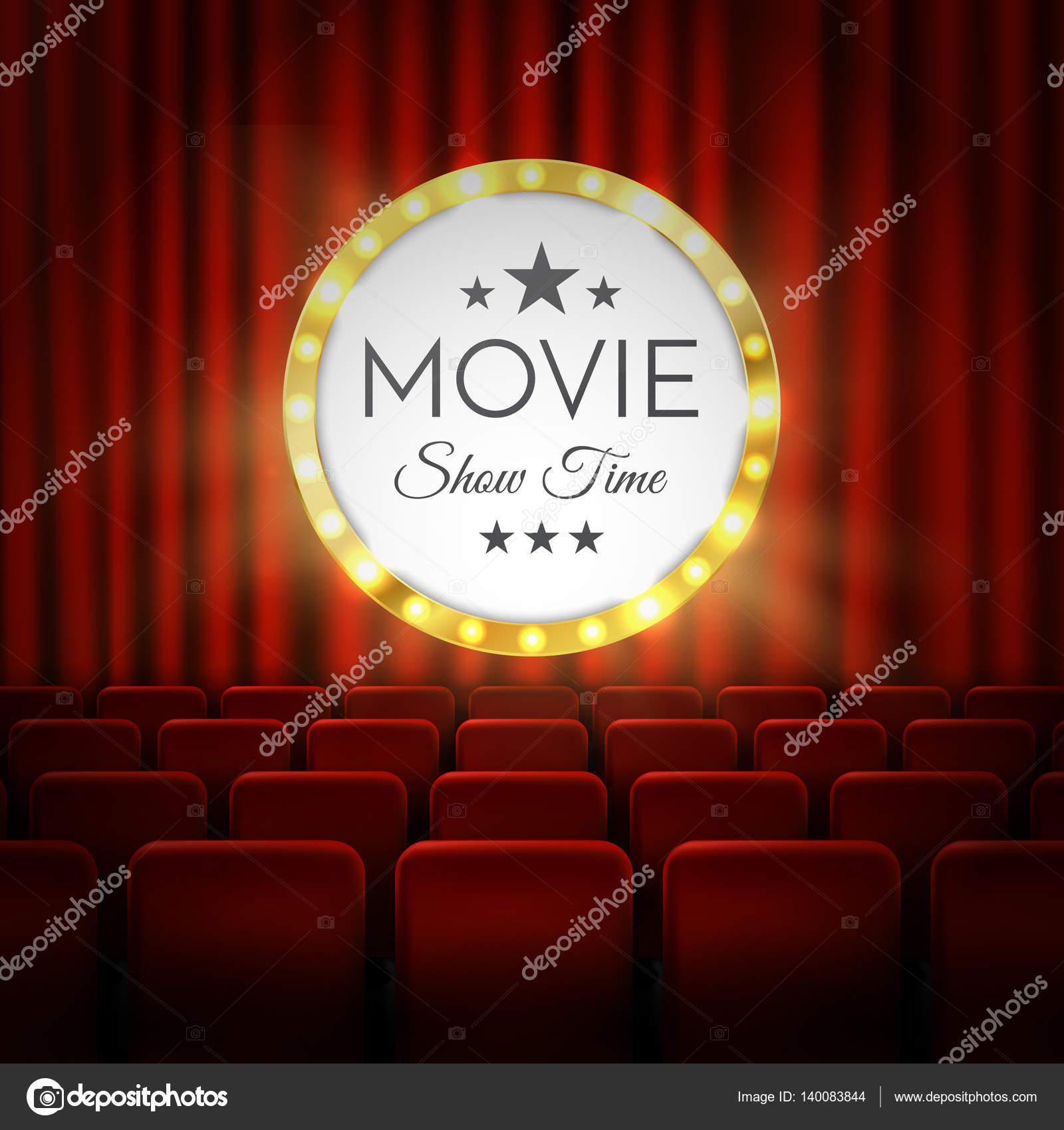 Poster design vector download - Movie Cinema Premiere Poster Design Vector Banner Stock Vector 140083844