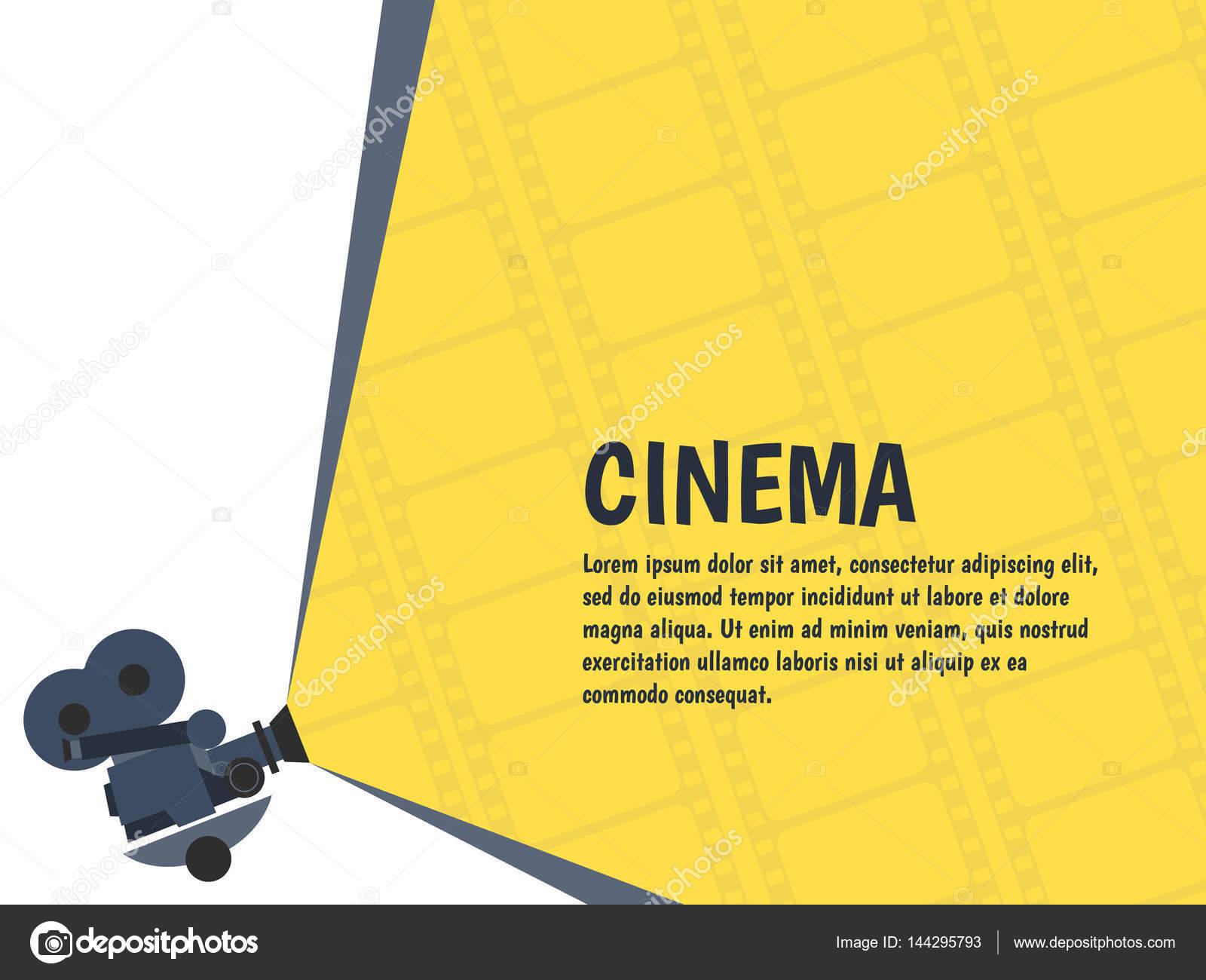 Cine festival cartel o flyer plantillas para su diseño. Vector de ...