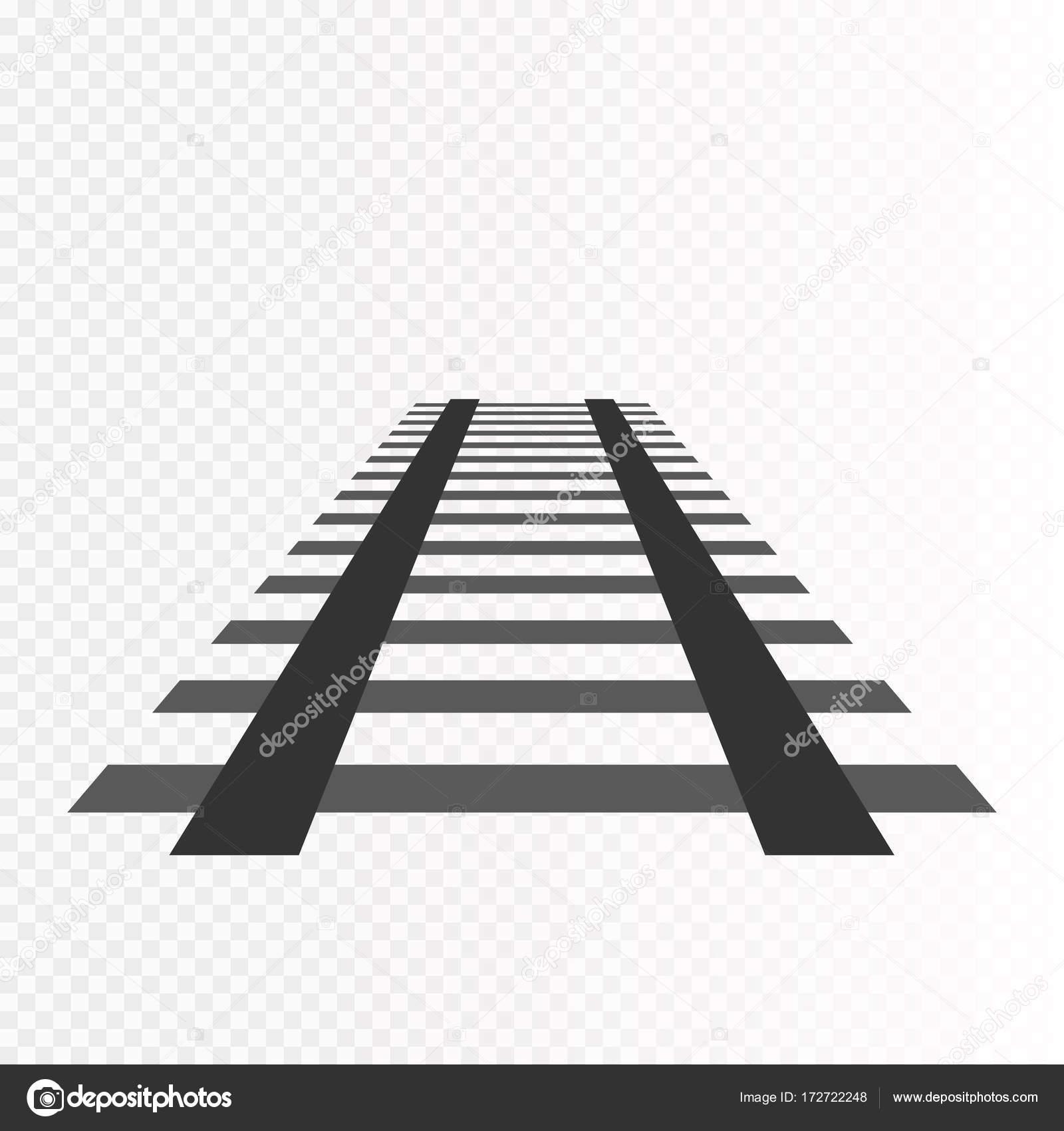 vector rails railways on white background railroad stock vector