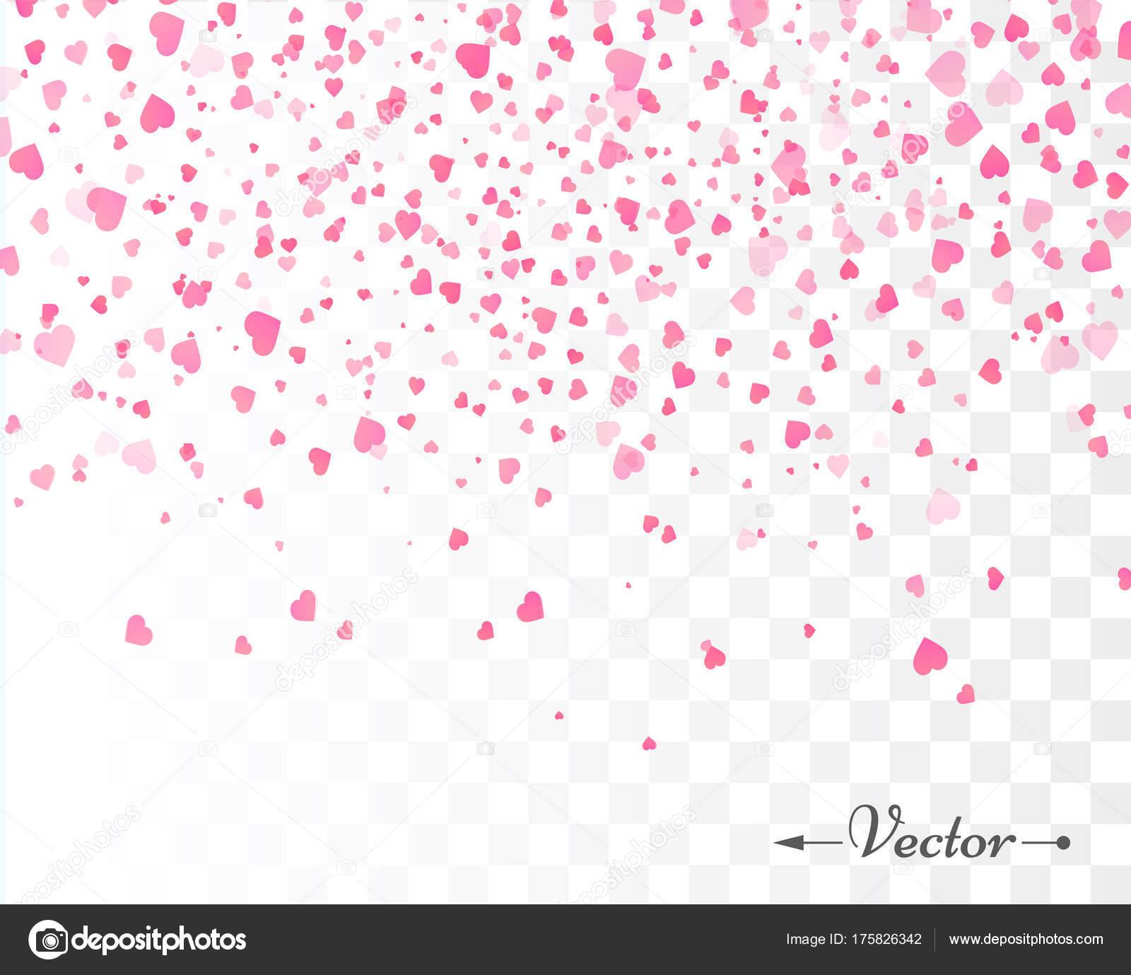 Herz Konfetti isoliert. Valentines Vektor Vorlage — Stockvektor ...
