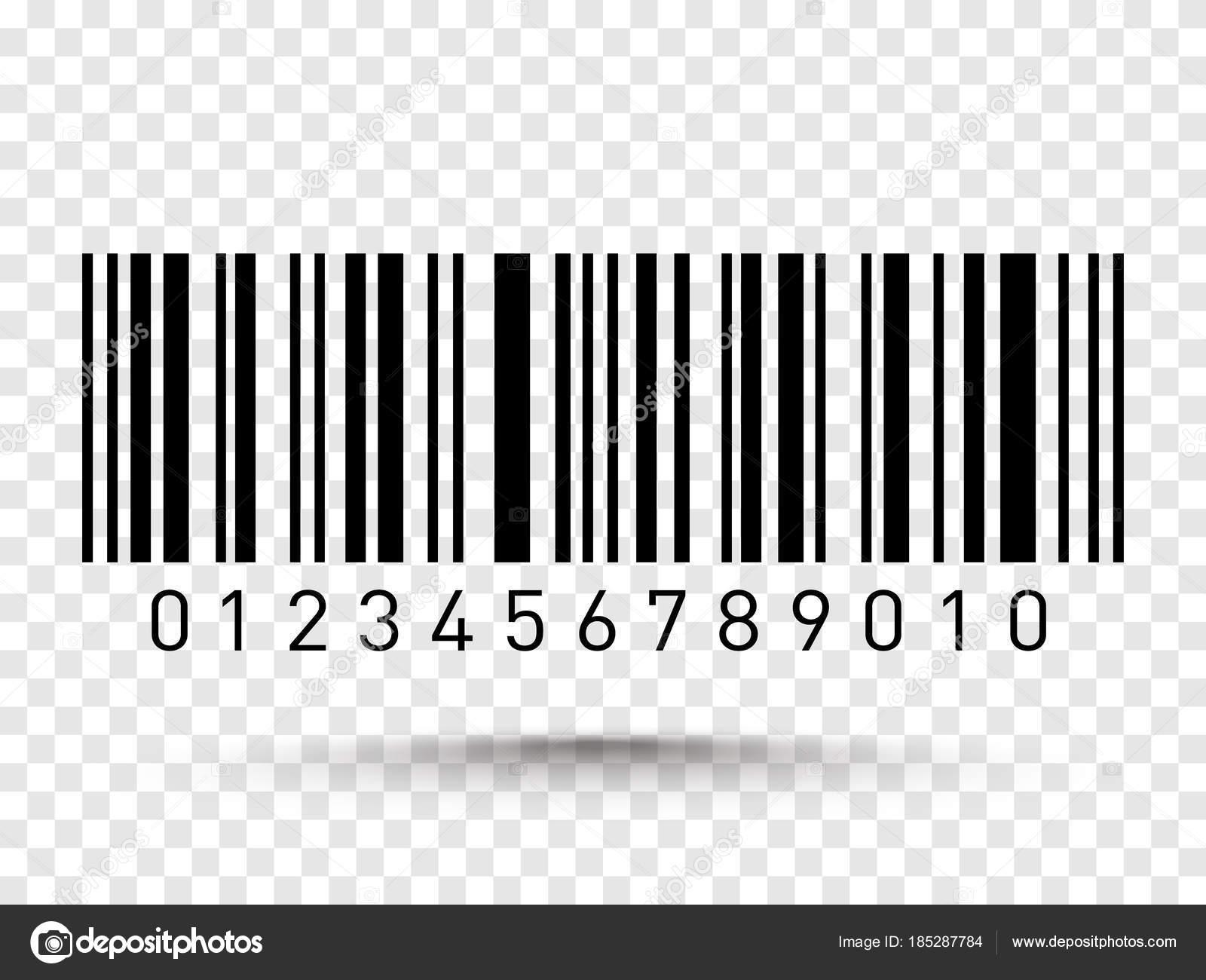 Código De Barras Aislada Sobre Fondo Transparente. Icono