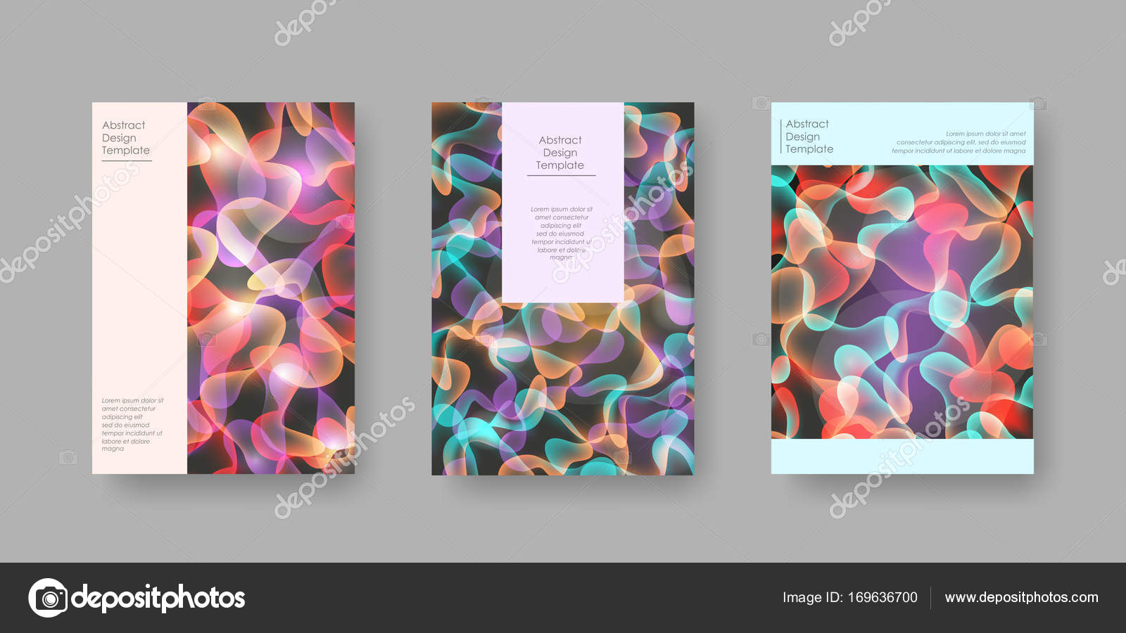 bright abstract cover designs for brochure presentation catalog