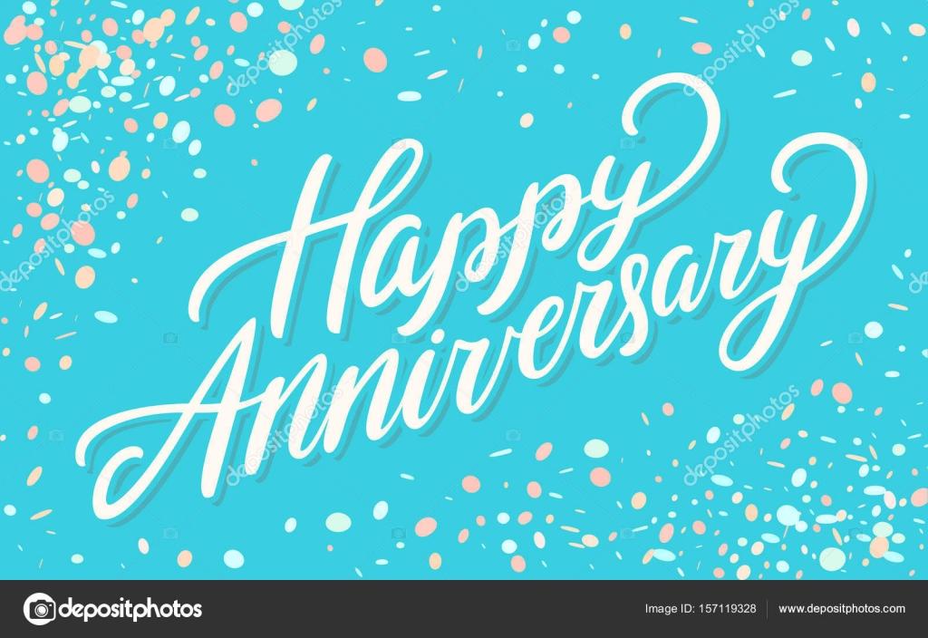 Happy Anniversary Greeting Card Stock Vector Alexgorka 157119328
