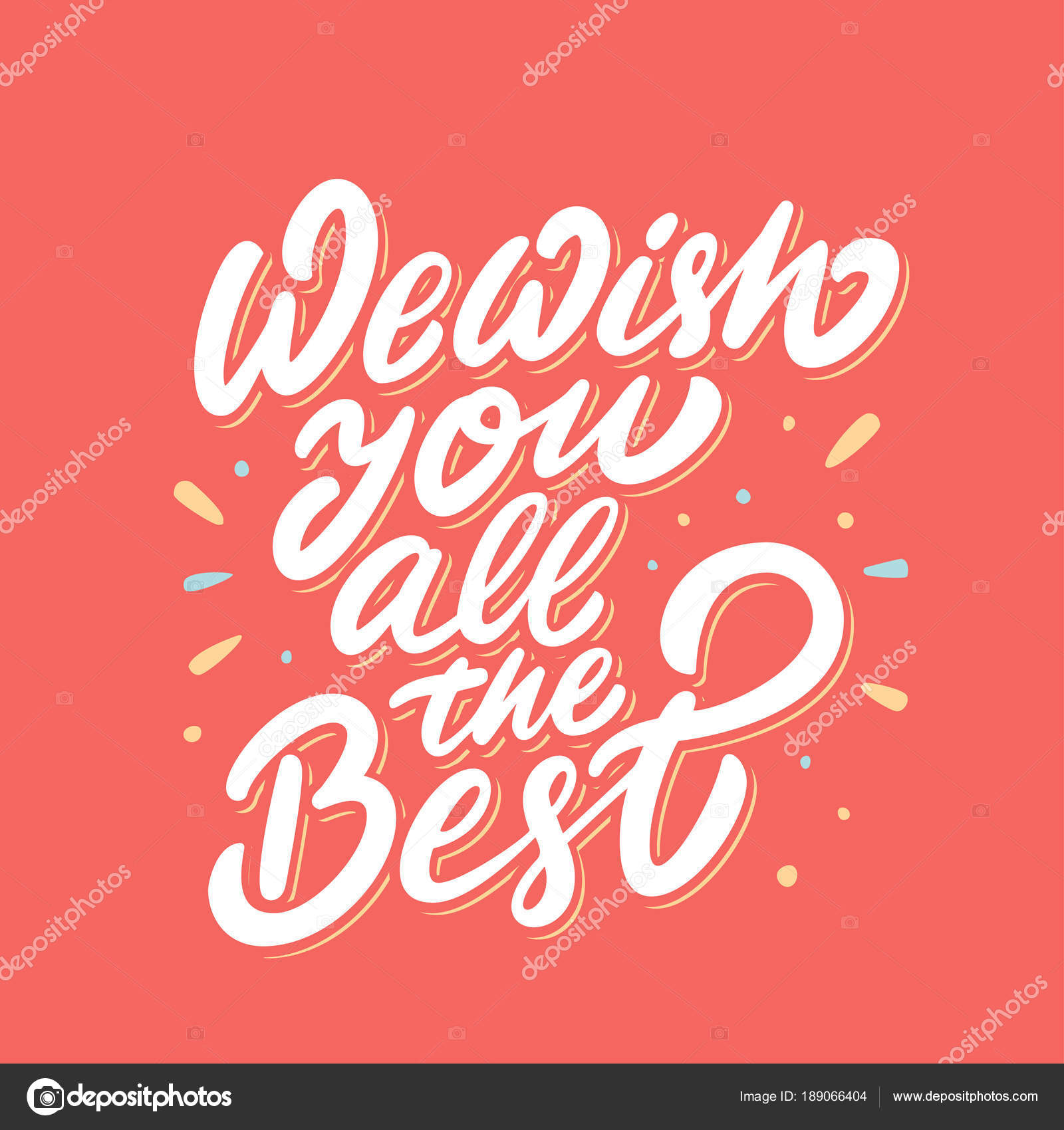 we wish you all the best stock vector