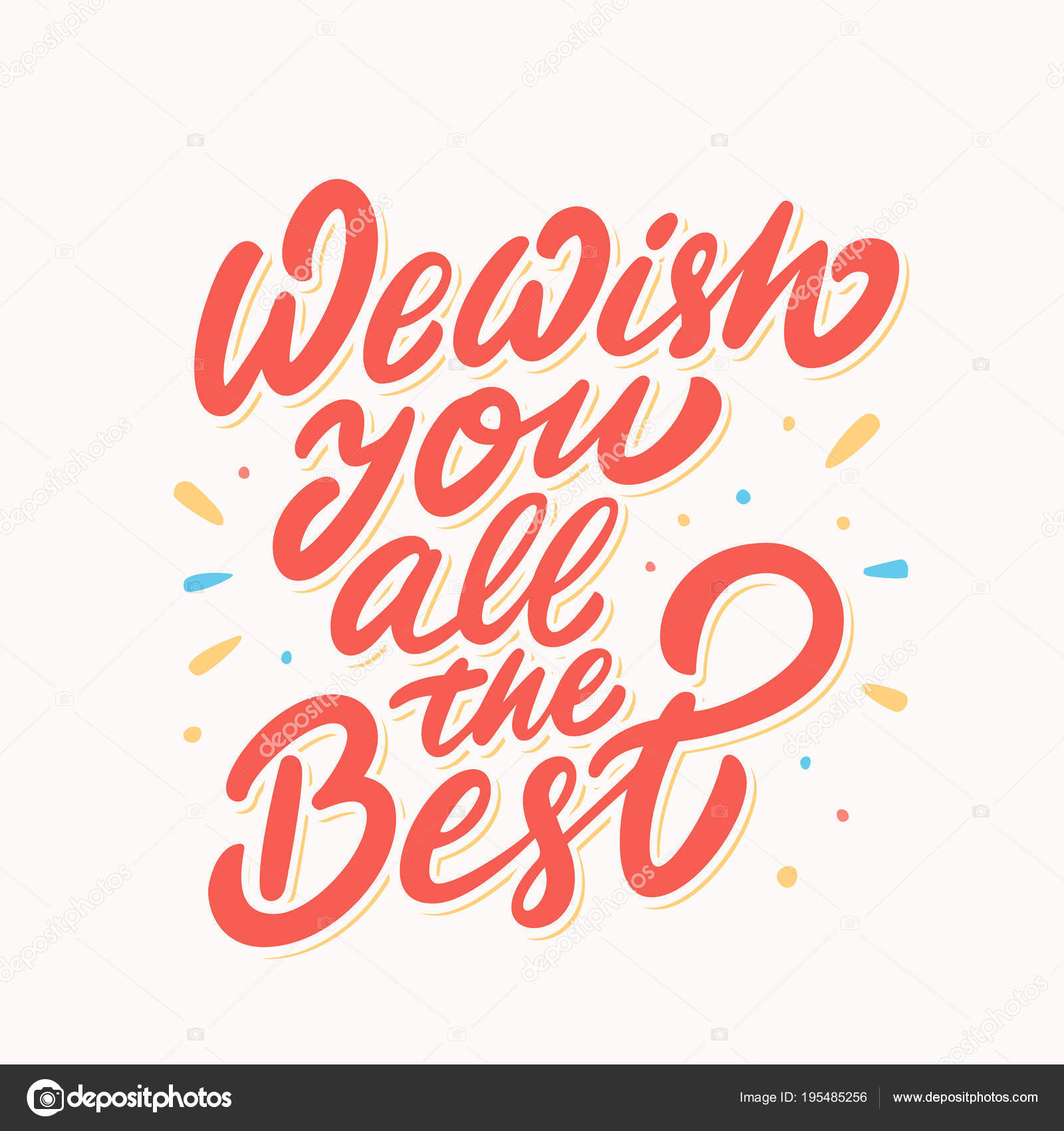 We Wish You All The Best Farewell Card Stock Vector