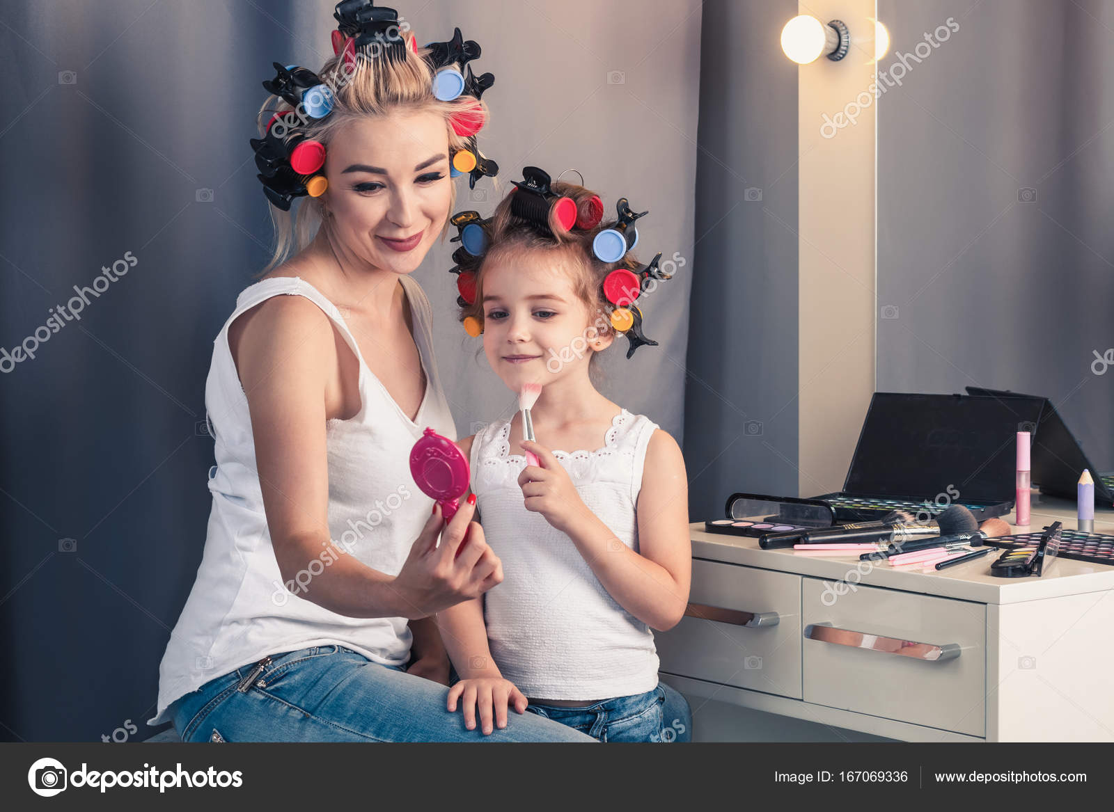 Mädchen mit ihr