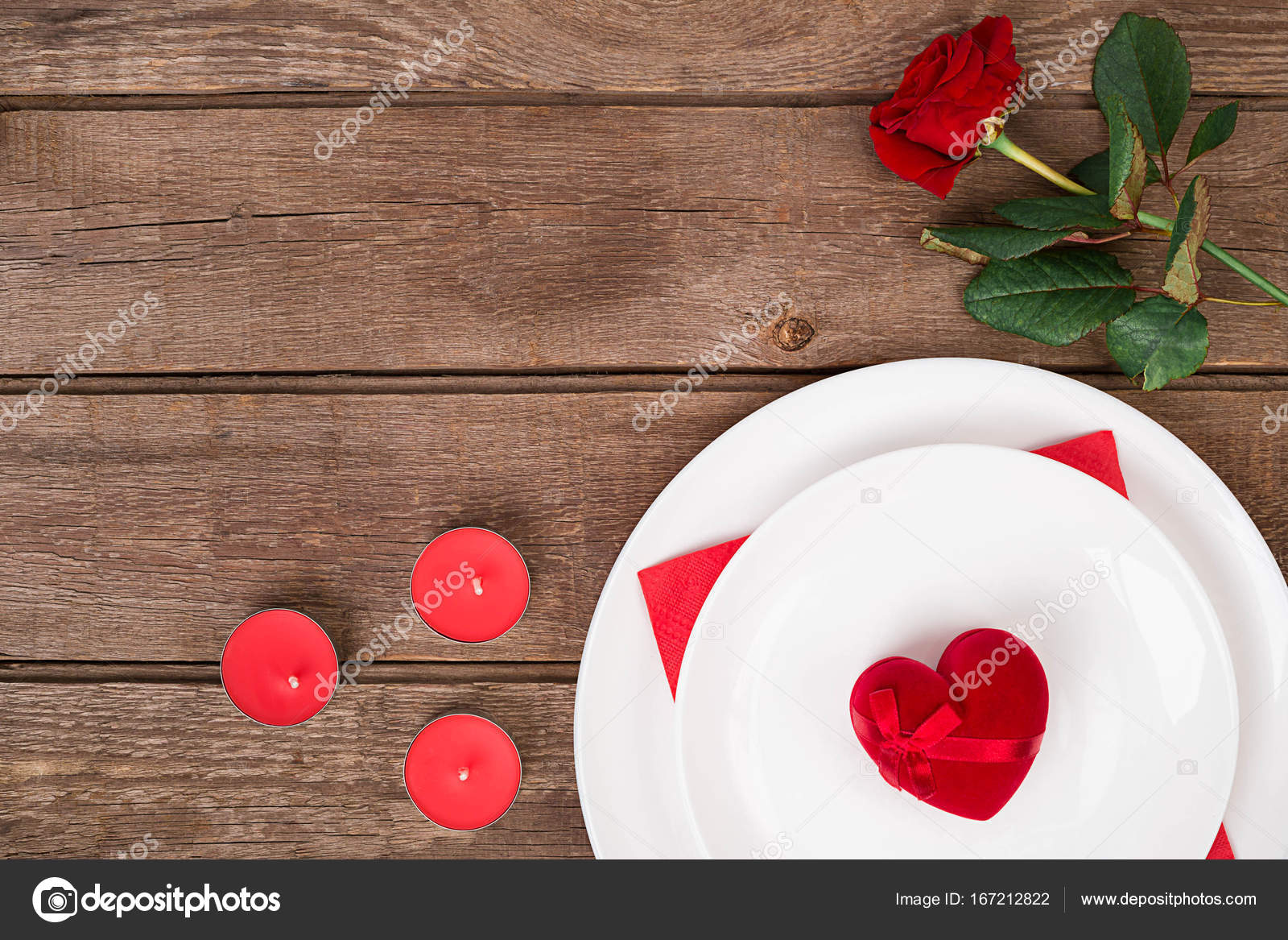 Romantic Dinner Concept Valentine Day Or Proposal Background