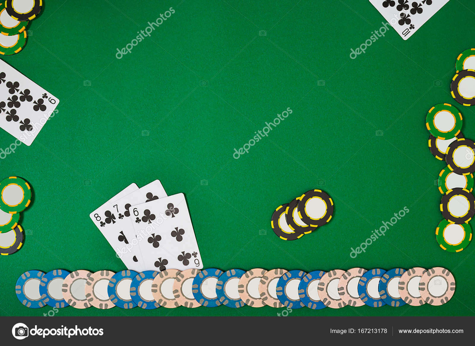 banner template layout mockup for online casino green table top