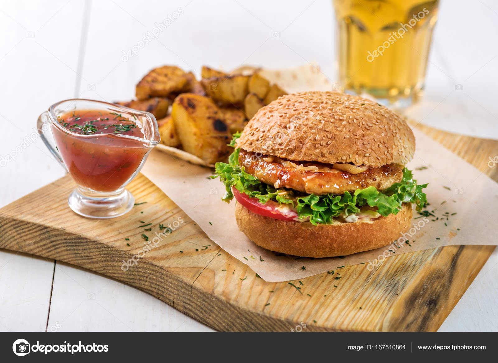 Platos de madera para hamburguesas
