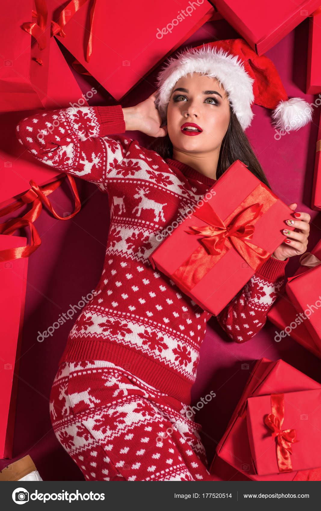 Gifts to the woman for the New 2018 59