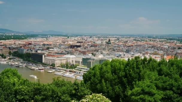 Panoráma a város Budapest, Magyarország. Panoráma shot
