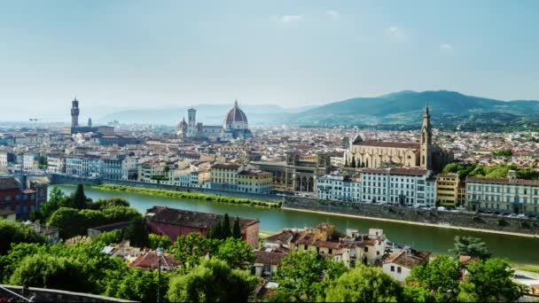 Paning timelapse: The cityscape of Florence, Italy. One of the most beautiful cities in the world
