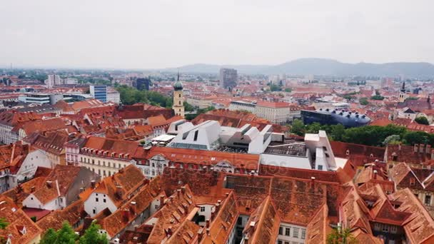 Panorama of the city of Graz in Austria. A beautiful European city, a popular tourist destination