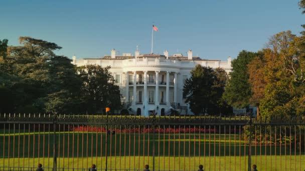 Bílý dům na podzim. Washington, Dc, Usa