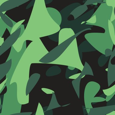 Camouflage pattern. Military khaki seamless vector pattern wallpaper stock vector