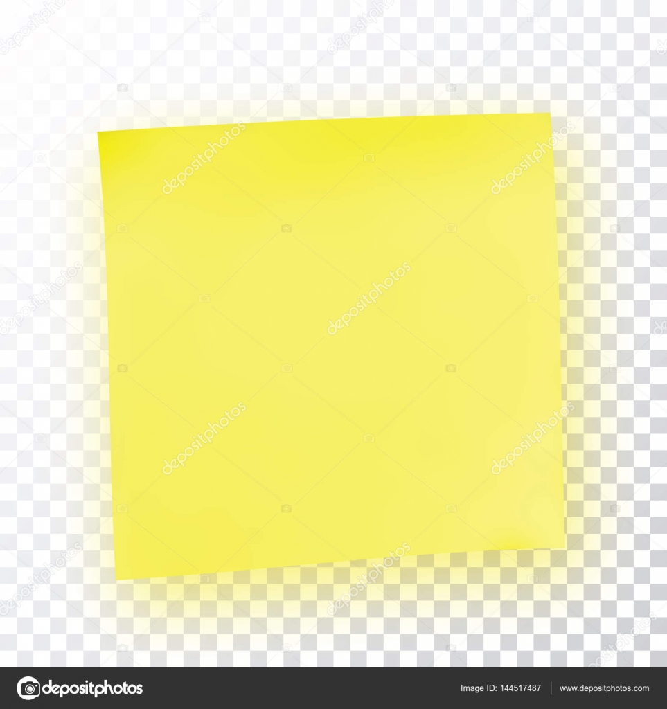 Yellow Sticky Note. Template For Your Projects. Sticker Isolated On  Transparent Background. Vector Illustration. U2014 Vector By Mash3r