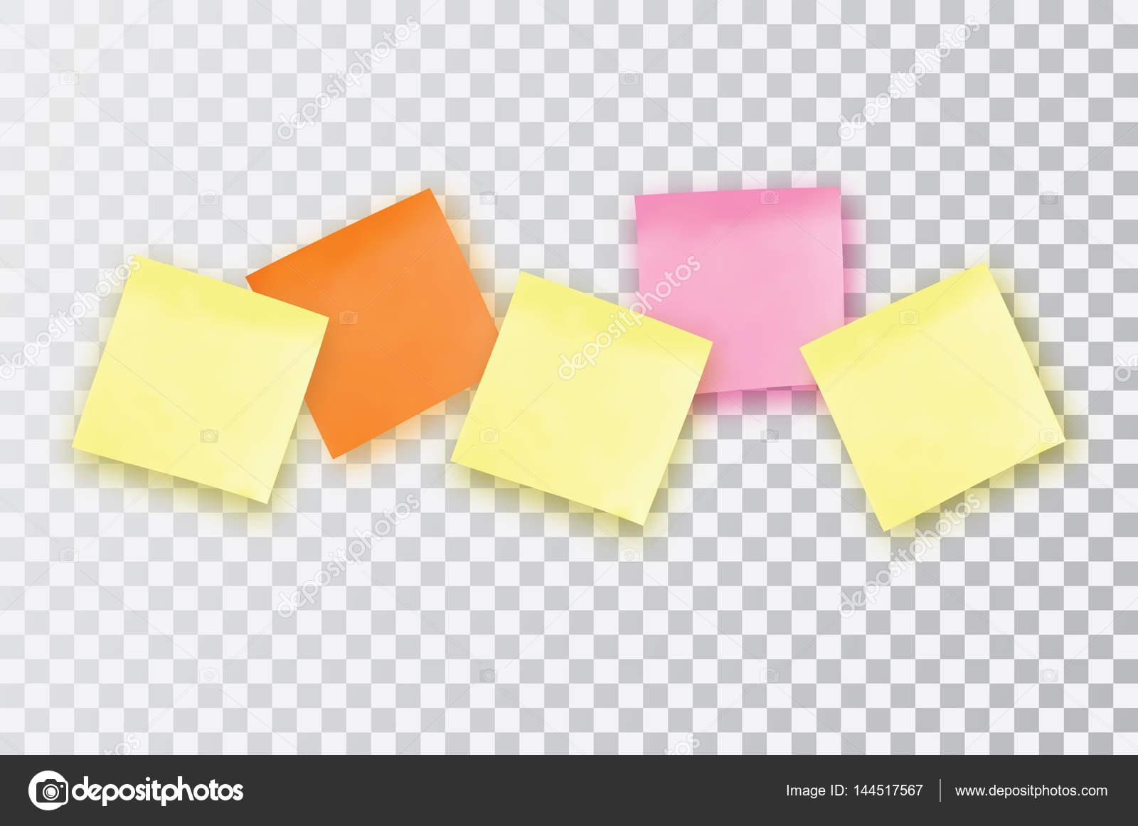 Nota adhesiva colores 5. Plantilla para tus proyectos. Etiqueta ...