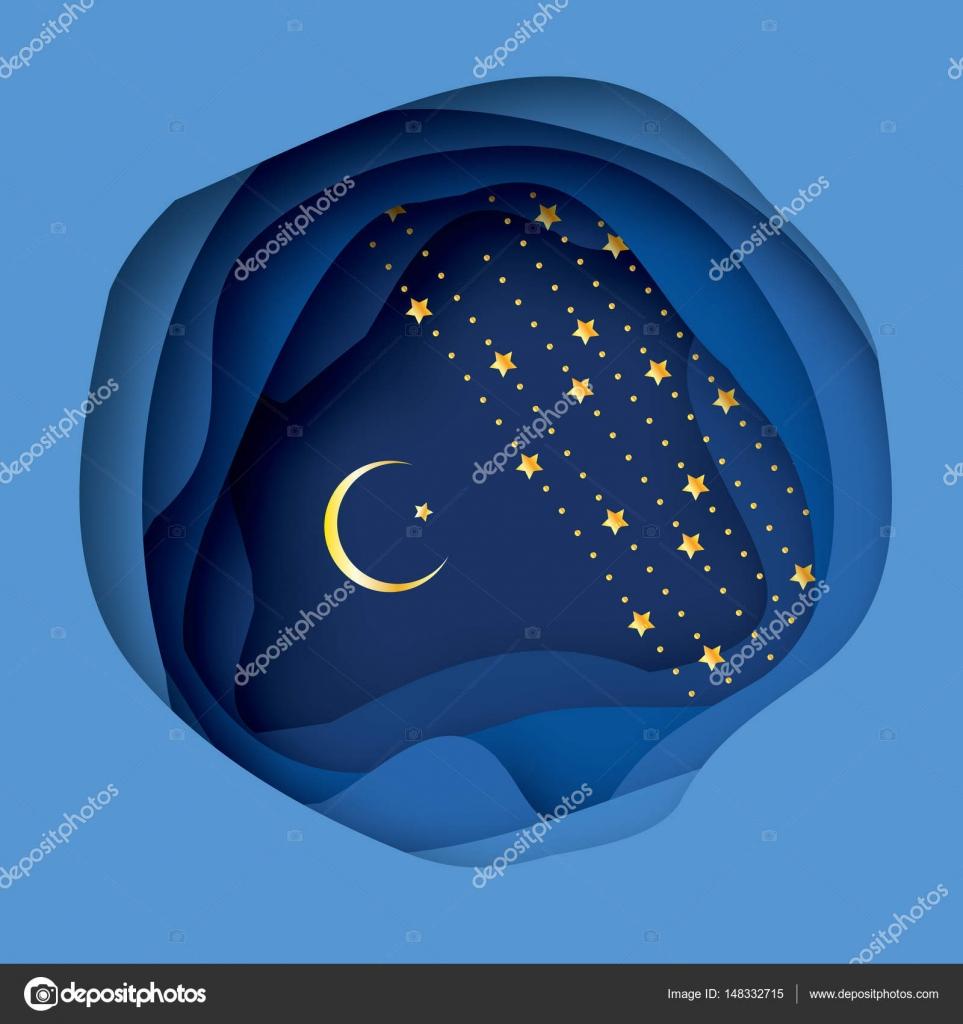 Ramadan Kareem Greeting Card With Arabic Gold Symbol Of Islam
