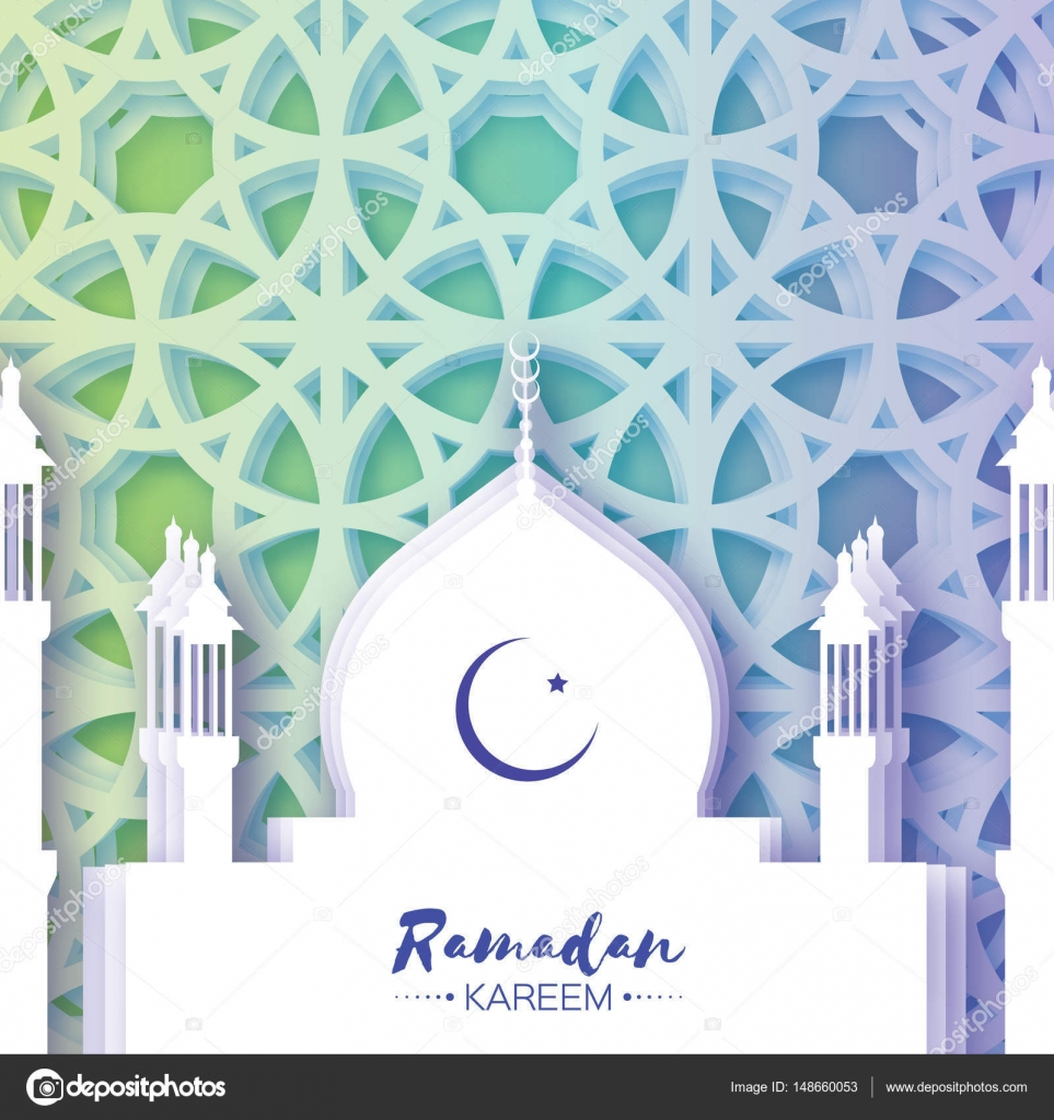 Mosque ramadan kareem greeting card with arabic arabesque window ramadan kareem greeting card paper cut arabic arabesque window crescent moon holy month of muslim symbol of islam space for text kristyandbryce Image collections