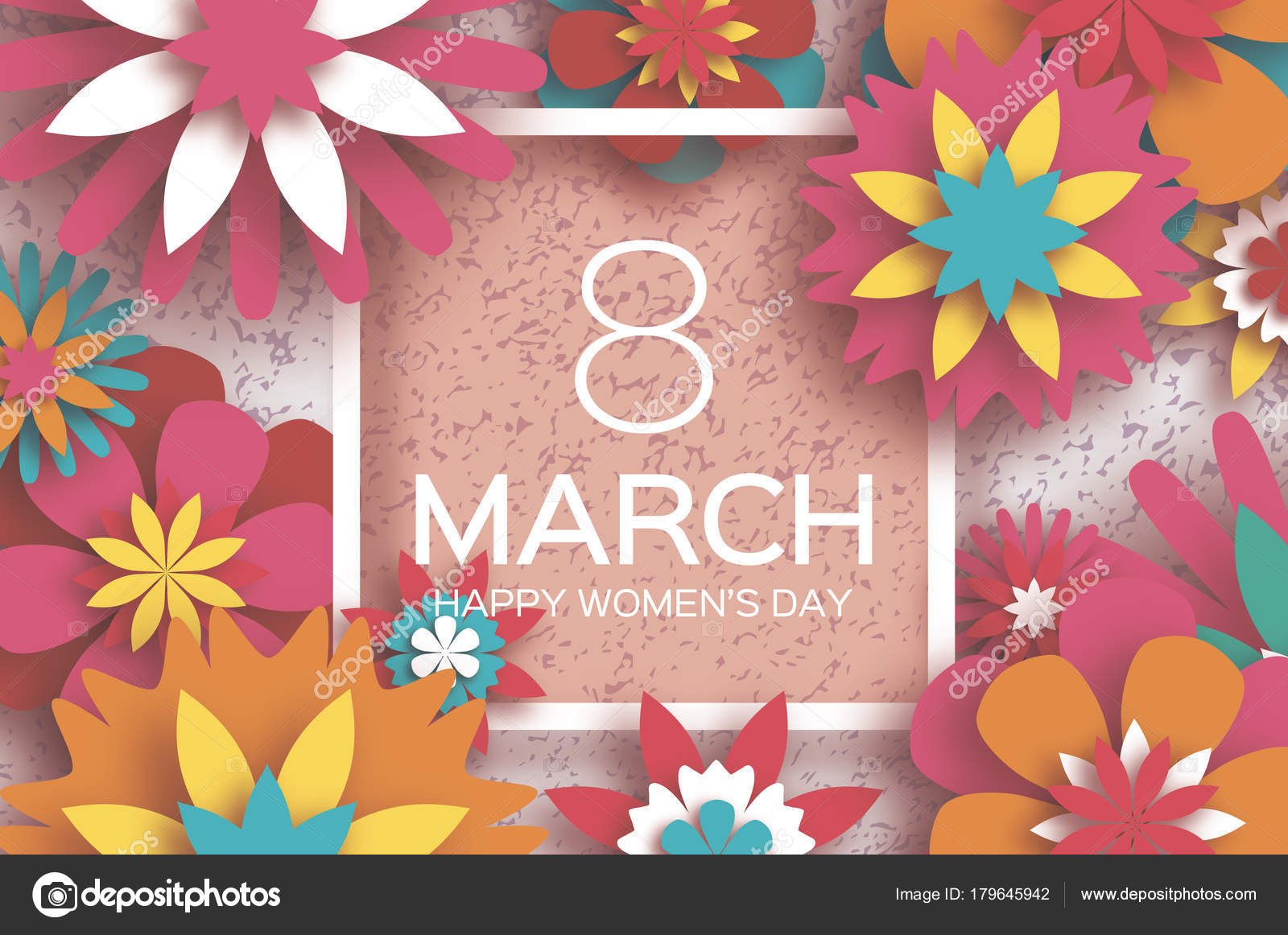 8 march happy womens day red paper cut floral greeting card red paper cut floral greeting card origami flower mightylinksfo