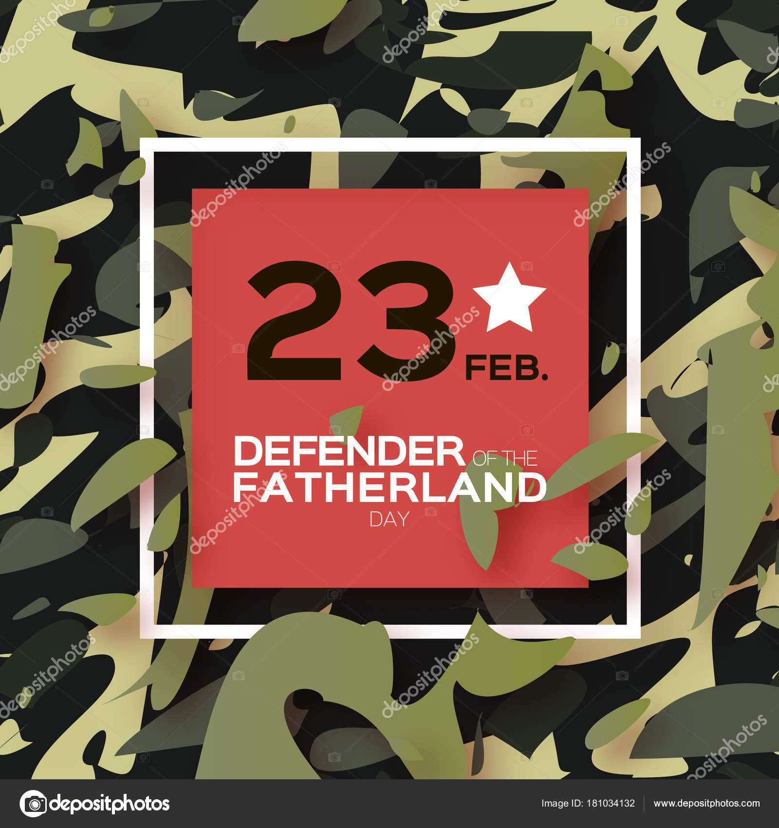 Defender Fatherland Day February Greeting Card Men Military