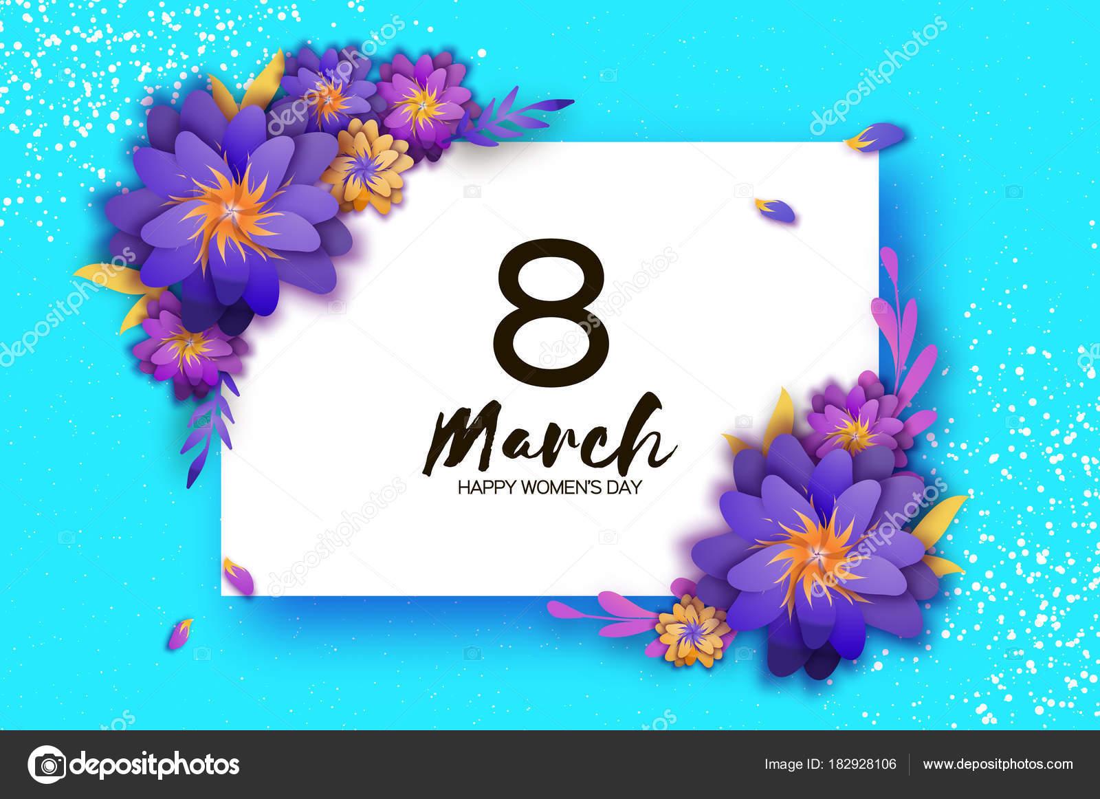 Außergewöhnlich Welche Blumen Blühen Im März Das Beste Von März. Trendige Muttertag. Scherenschnitt Exotischen Tropischen Grußkarte.