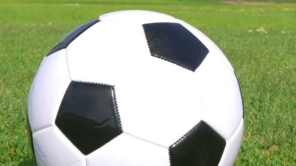 a füves területen a futball-labda.