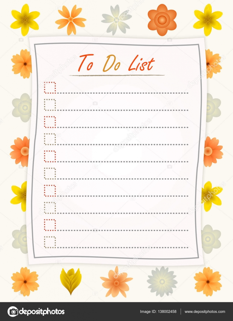 to do list paper on the flower design background motivational