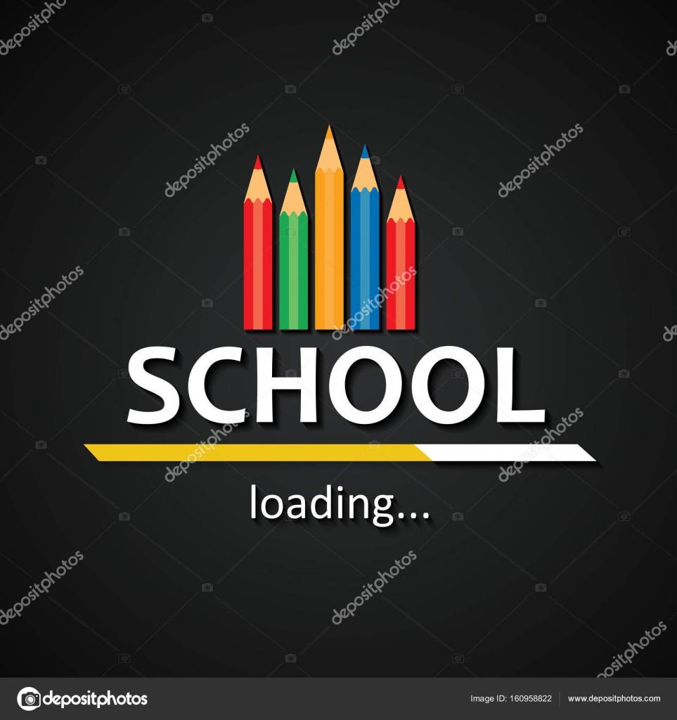 School loading bar with pencils funny school pencils inscription school loading bar with pencils funny school pencils inscription template background stock vector voltagebd Choice Image